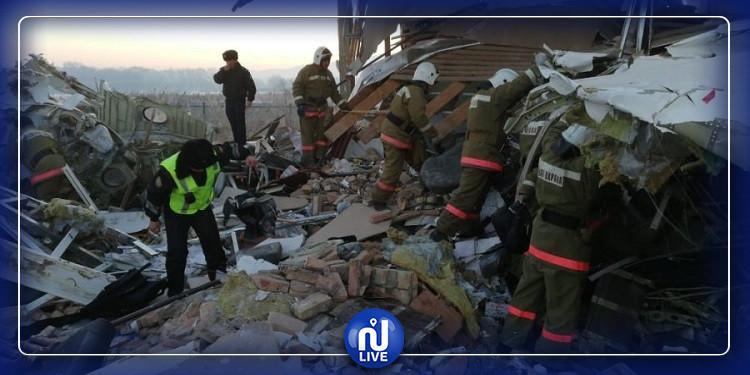 15 قتيلا وعشرات الجرحي في  تحطم طائرة في كازاخستان(صور)