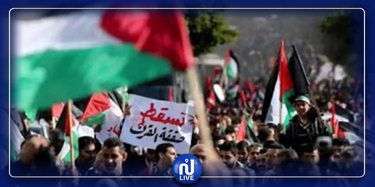 حرق علم ''اسرائيل'' خلال مظاهرات حاشدة بالأردن