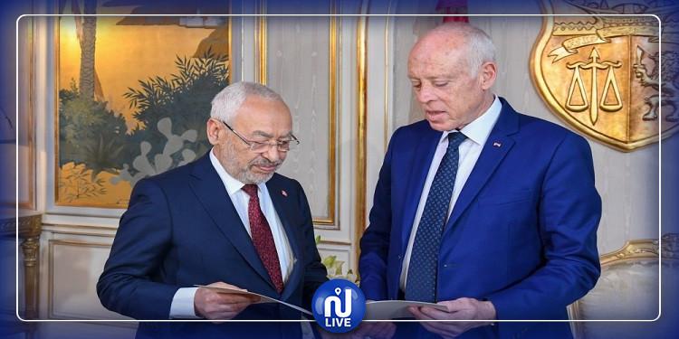 رئيس الجمهورية يسلم قائمة أعضاء الحكومة المقترحين إلى رئيس البرلمان