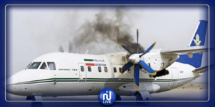 هبوط اضطراري لطائرة إيرانية اندلعت النيران بمحركها