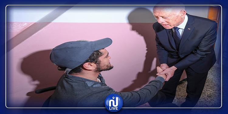 رئيس الجمورية يزور جريح الثورة خالد بن نجمة