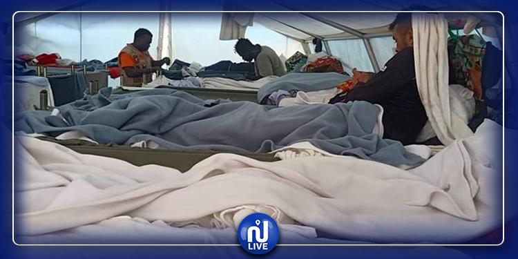 تواصل إحتجاز 800 مهاجر تونسي في ''مليلة'' (صور)