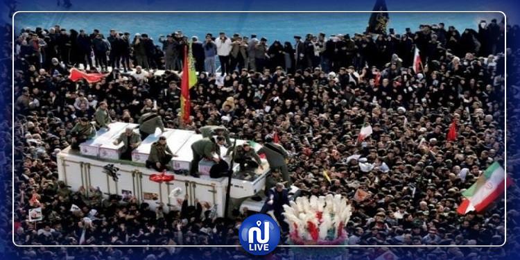 عدد قتلى التدافع في جنازة سليماني يرتفع إلى 50 شخصا