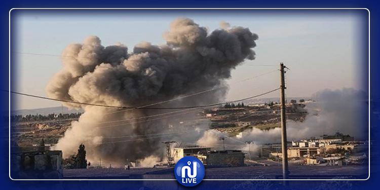 إدلب: غارات روسية على محيط تجمع للقوات التركية