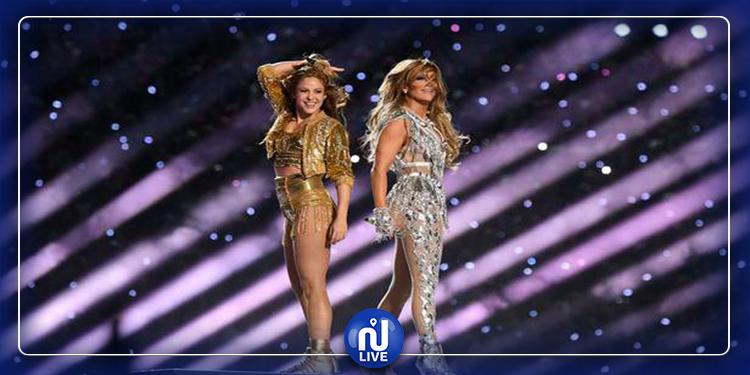 Jennifer Lopez et Shakira splendides au Super Bowl