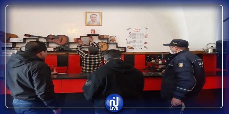 نابل:  إغلاق 15 مقهى بالقوة العامة (صور)