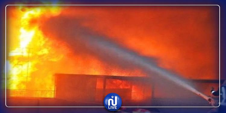 إخماد حريق بمعمل الامونيتر بقابس