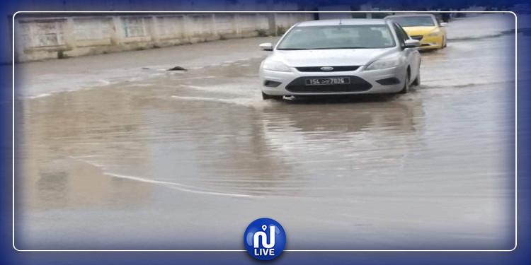جندوبة: أمطار غزيرة و الشوارع تغرق (صور)