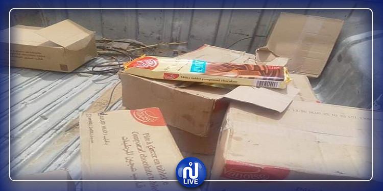 بنقردان: حجز كمية من الشكلاطة منتهية الصلوحية مهربة من ليبيا (صور)