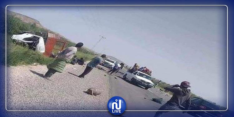 سيدي بوزيد: وفاة شخصين وإصابة اثنين آخرين في حادث مرور (صور)