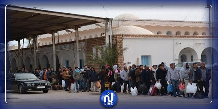 عودة دفعة أولى من الليبيين عبر معبر راس جدير بعد إنهائهم الحجر الصحي بتونس