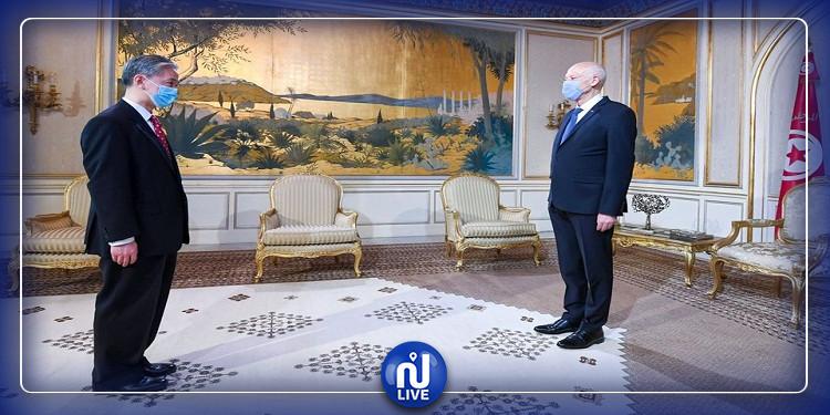 رئيس الجمهورية يلتقى السفير الصيني بمناسبة انتهاء مهامه (فيديو)