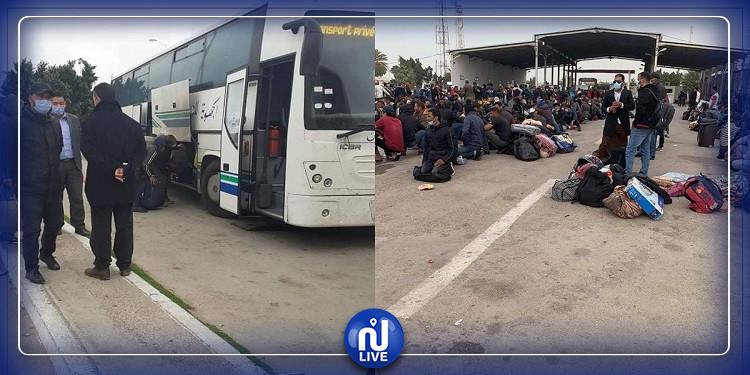 مدنين: دخول تونسيين عبر معبر راس جدير وأعداد أخرى في الانتظار