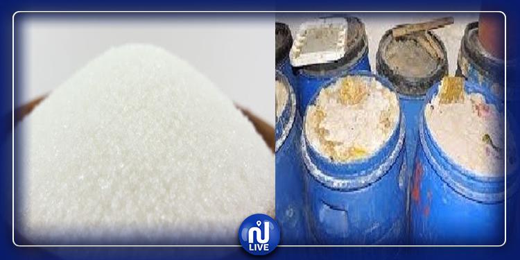 حجز 30 طنا من السكر المدعم و3 أطنان من المخلّلات المتعفّنة بأريانة