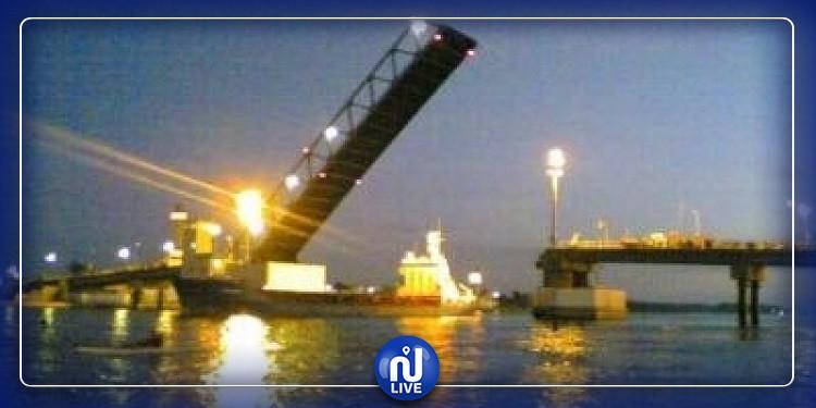 السماح بمرور 4 بواخر بقنال بنزرت ولا وجود لأيّ إشكال فنّي بشأن الجسر
