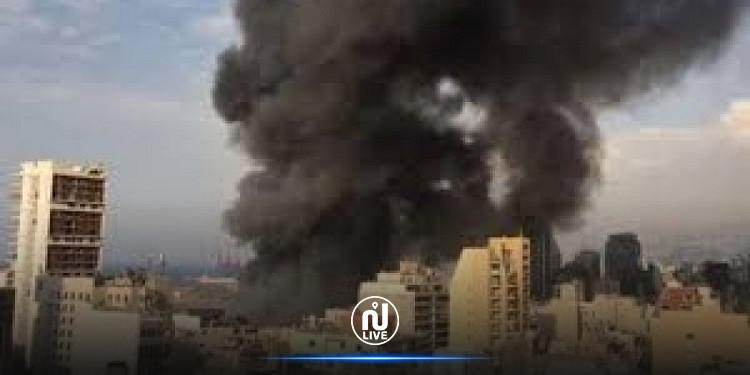 لبنان: انفجار كبير يهز  منطقة عين قانا