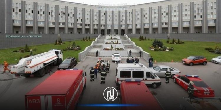 روسيا: حريق في مستشفى لمرضى كورونا وإجلاء العشرات