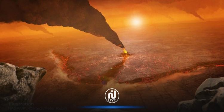 ناسا: صورة مرعبة لثوران بركان على كوكب الزهرة! (صور)
