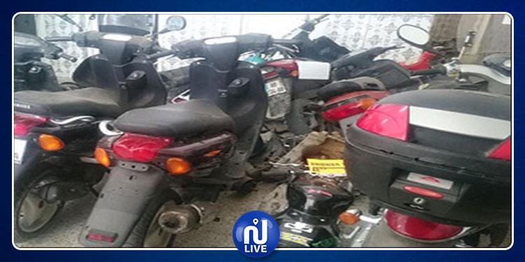الكاف: حجز  24 دراجة نارية مسروقة ومخبأة في مخزن