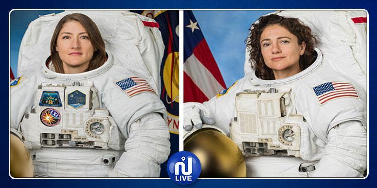 لأول مرة في التاريخ..ناسا ترسل امرأتين إلى الفضاء المفتوح