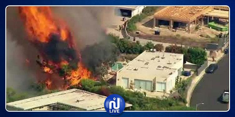 من بينهم صوفيا ريتشي: الحرائق تحاصر قصور مئات المشاهير في أمريكا (فيديو)