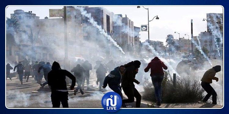 إصابة عشرات الفلسطينيين بالرصاص الحي