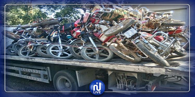 بنزرت: حجز 65 دراجة نارية دون وثائق