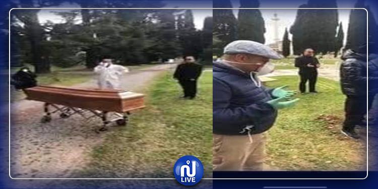 إيطاليا: جنازة تونسي توفي بفيروس كورونا (صور)