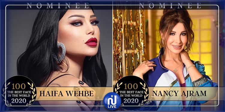 نانسي عجرم وهيفاء وهبي ضمن قائمة أجمل 100 وجه في العالم