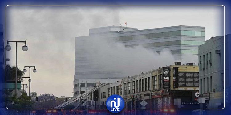 لوس أنجلوس: اصابات بليغة جراء حريق بمركز تجاري