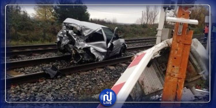 منوبة: وفاة شخص في حادث اصطدام قطار نقل بضائع بسيارة