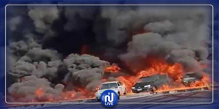 مصر: تفحّم 31 سيارة في حريق هائل (فيديو)