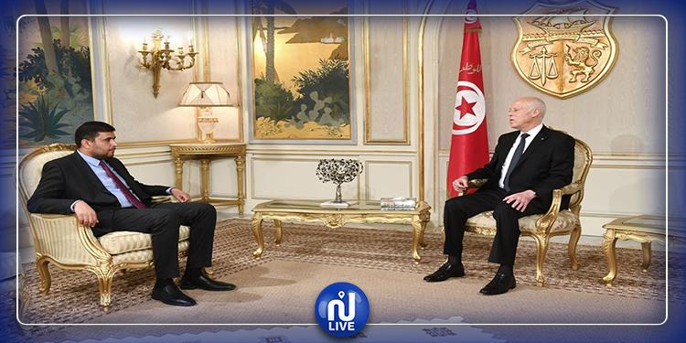 رئيس الجمهورية يلتقي وزير المالية في حكومة الوفاق الليبية