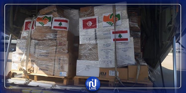 وصول المساعدات التونسية الموجهة إلى لبنان (صور)