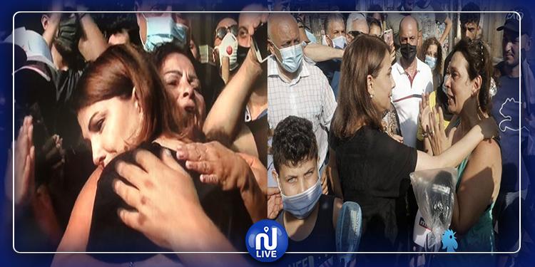 ماجدة الرومي تواسي المتضررين في انفجار بيروت (فيديو)