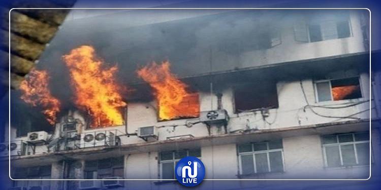 حريق هائل يودي بحياة 7 أشخاص بمركز لمصابي كورونا