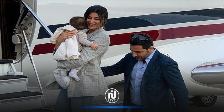 أوّل ظهور لابنة ريم السعيدي آية صوفيا (صور)