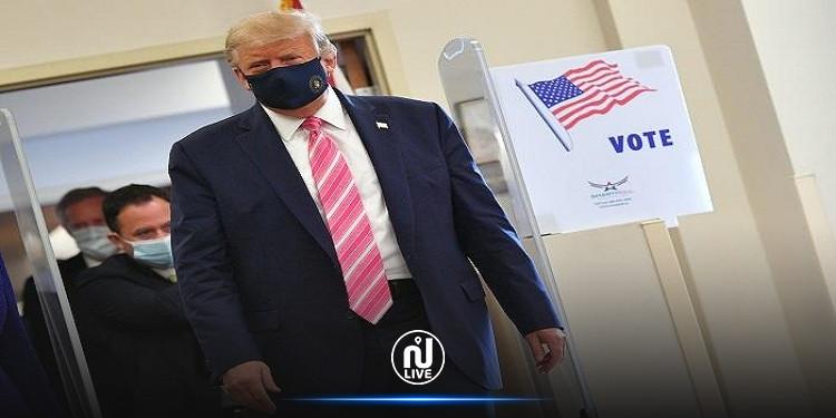 ترامب يدلي بصوته في الانتخابات الرئاسية