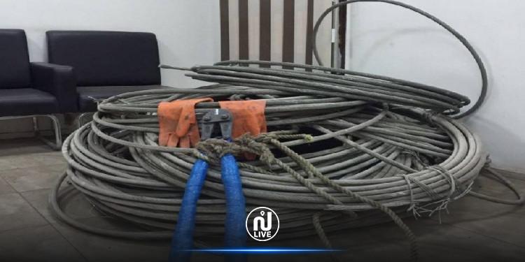 جندوبة: ايقاف شبكة مختصة في سرقة الأسلاك الكهربائية