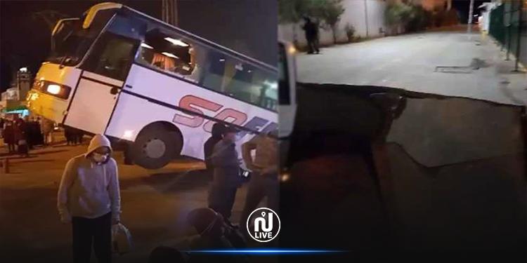 حادث سقوط حافلة بحفرة: نتائج المعاينات الأولية