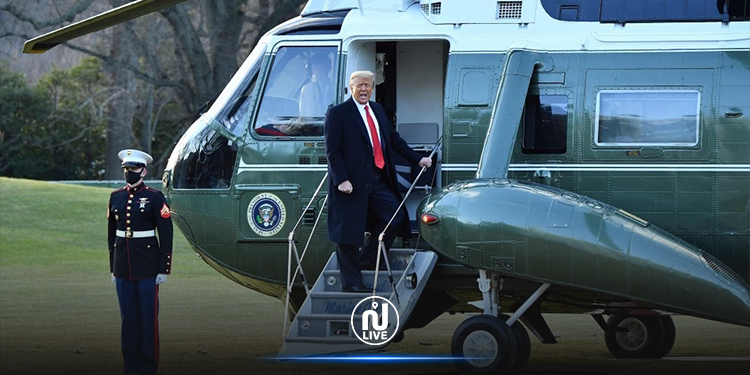 ترامب يغادر البيت الأبيض قبل تنصيب بايدن (فيديو)