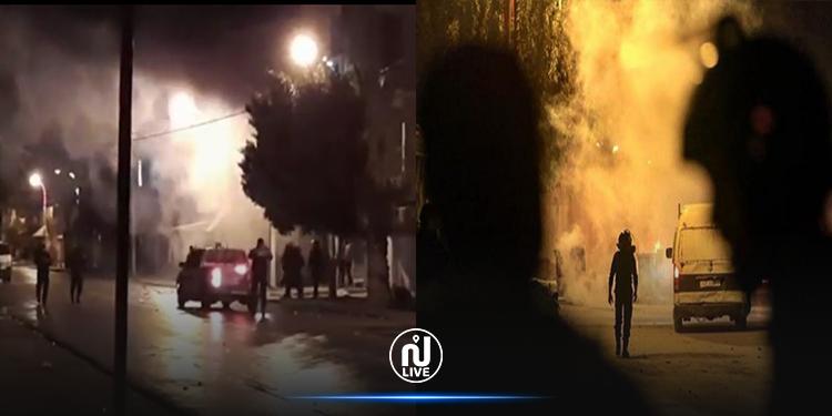 سليانة: ايقاف 8 أشخاص بعد مواجهات مع الأمن