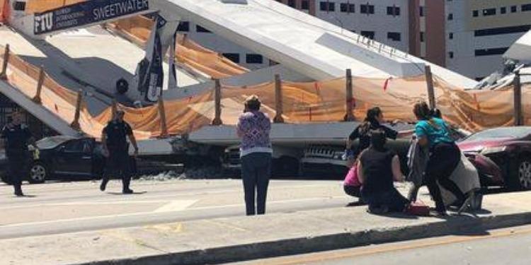 فلوريدا: انهيار جسر للمشاة يتسبب في سقوط قتلى وجرحى (فيديو)