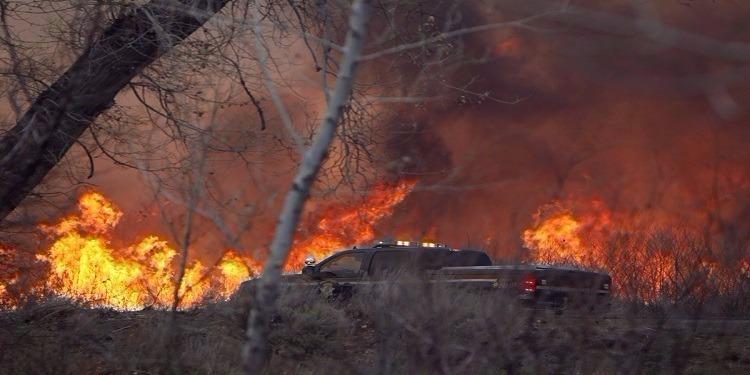 الكاف:اندلاع حريق بجبل الزعافرية بنبر