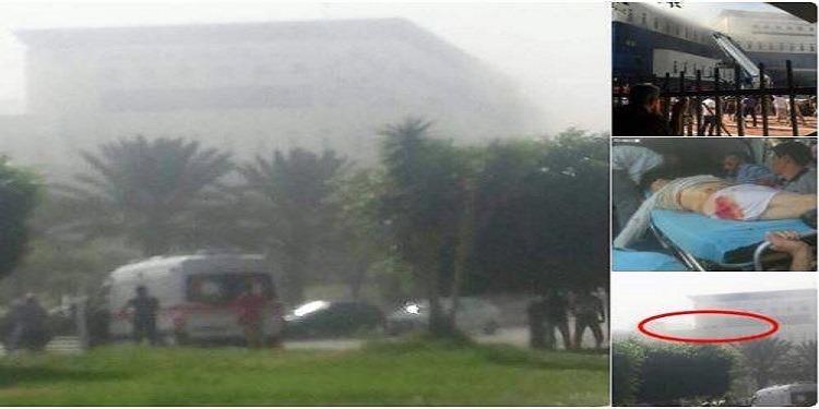 Le siège de la Compagnie libyenne de pétrole, attaquée (Photos)