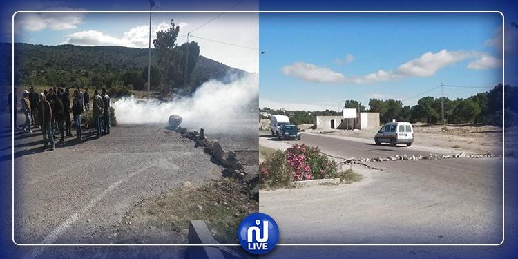 ''بسبب العمدة''..محتجّون يغلقون الطريق بين سليانة والوسلاتية