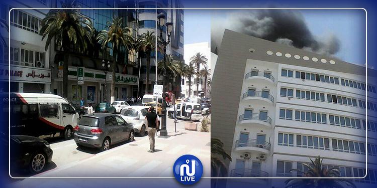 اندلاع حريق في عمارة وسط مدينة سوسة