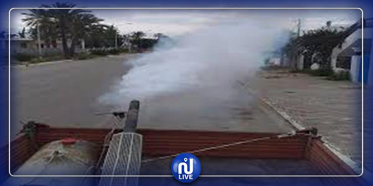 مداواة منطقة الأمن الوطني بسليانة توقيا من الحشرات والزواحف