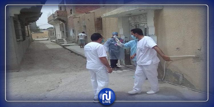 عزل أحد الأحياء وحملة تقصي واسعة لوباء كورونا في ولاية قفصة