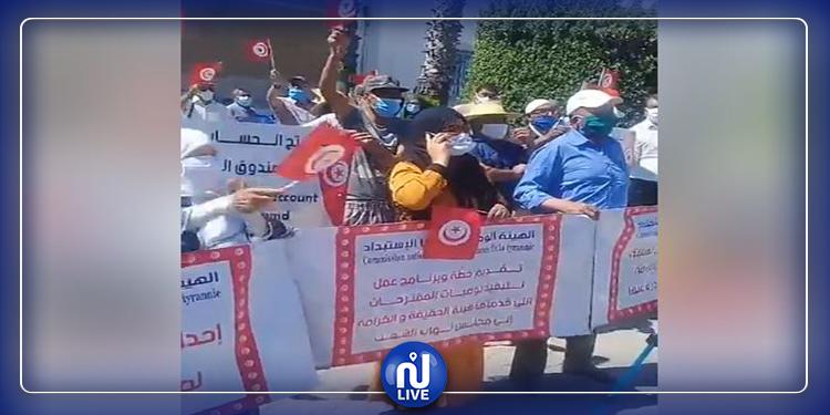 ضحايا الاستبداد يحتجّون أمام قصر الحكومة بالقصبة